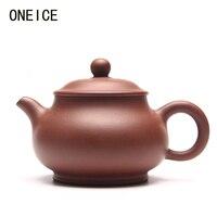 Gratis Verzending Hand made Echte theepot Pan Pot Qing Cement theepot Thee set theepotten Auteur Zhao Azië