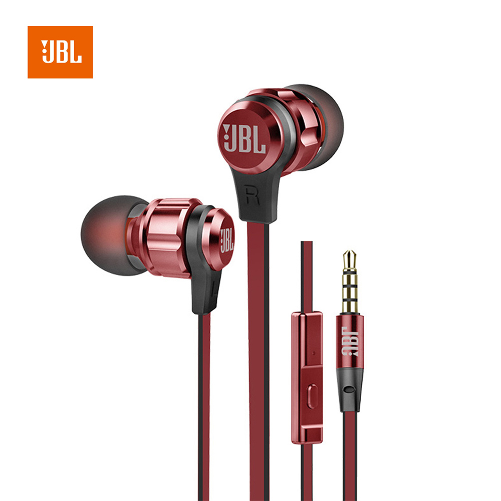 JBL T180A 3.5mm in ear Wired earphone Deep Bass Stereo Headset Handfree Line Control with microphone for Android/IOS