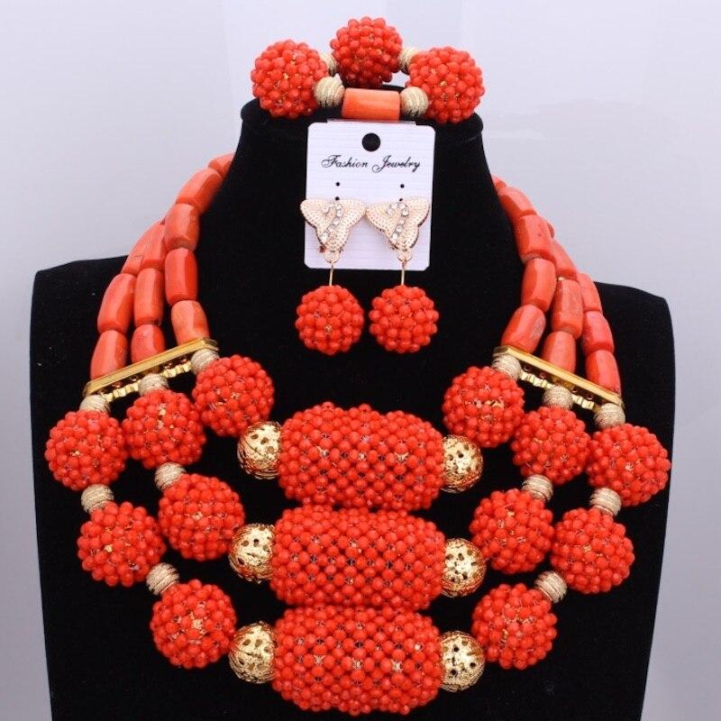 Здесь продается  Dubai Indian Wedding Necklace Jewelry Sets Bright Orange Balls Beads Coral Set Best Friends Jewelry Set New Free shipping   Ювелирные изделия и часы