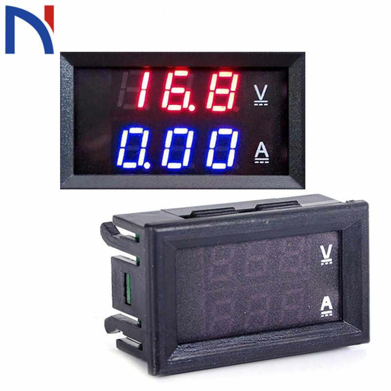 DC 0-100V 50A//10A Dual LED Panel 3 Digit Voltmeter Ammeter Gauge Meter for Home Appliances Factory Industry 10A Digital Voltmeter Ammeter