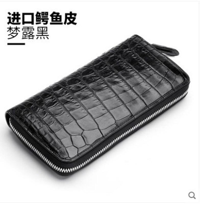 hanlante Crocodile leather wallet for women leather long handbag 2019 new belly wallet for women