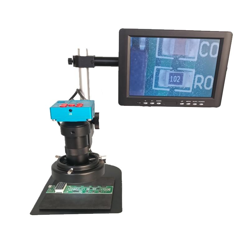 "8x-130x C-montaje Lente Aumento Soldadura 30mp 2 K 1080 P Hdmi Digital Usb Video Microscopio Cámara + 8 ""lcd Monitor De La Pantalla Agradable Al Paladar"