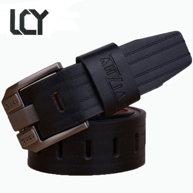 cdab4bd688 [LCY] Marcas Cintos Famous Brand Luxury Belt for Men Metal Pin Buckle Casual  High Quality PU Strap cinto masculino LB044