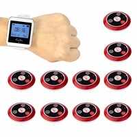 Wireless Calling System Restaurant Paging System With 1 Watch Receiver 10 Call Button Restaurant Equipment F4489C
