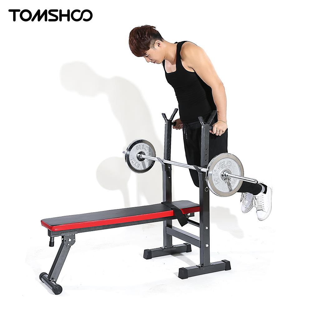 Abdominal straps crunch weight lifting door hanging gym chinning - Tomshoo Adjustable Abdominal Ab Bench Crunch Sit Up Training Gym Bench Flat Decline Board Squat Rack Stand Fitness Equipment