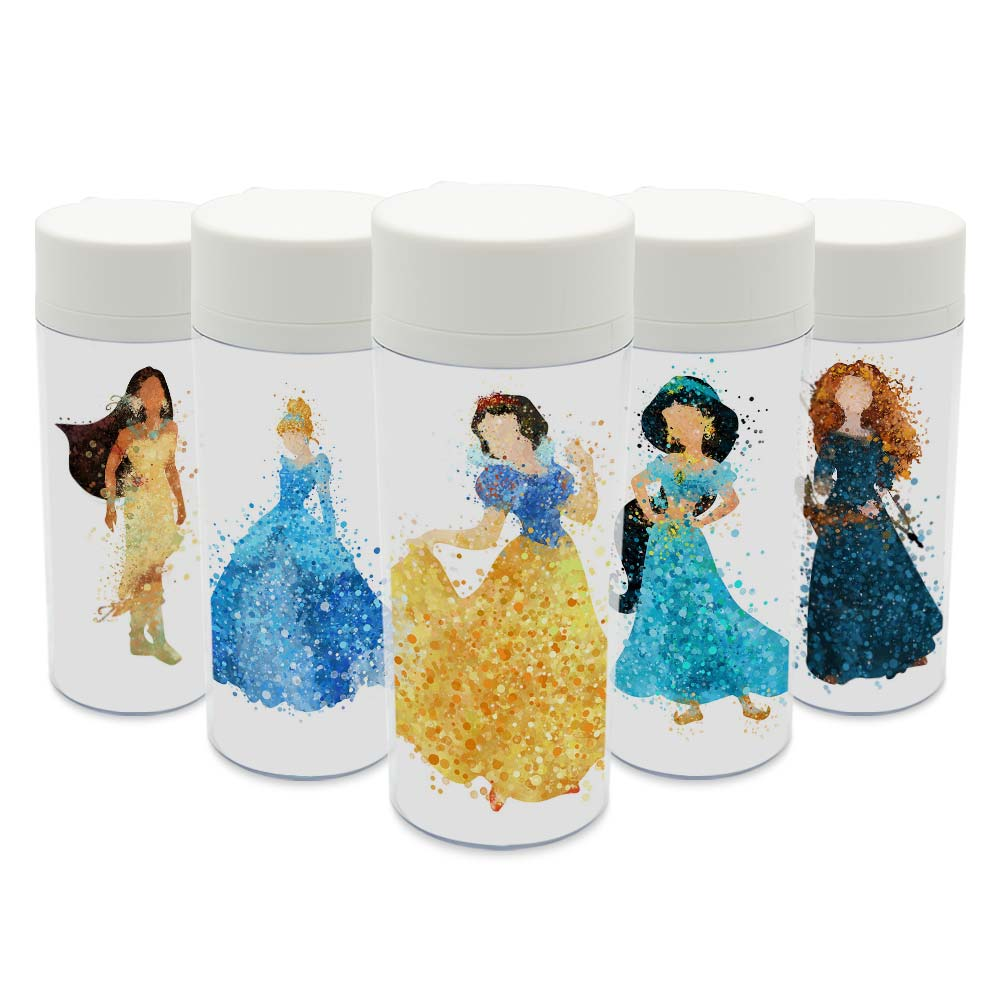 Modern <font><b>Cup</b></font> BPA Free Plastic Insulated Original Watercolor Cartoon Movie Princess Snow <font><b>Cinderella</b></font> Girl Water Bottle 300ml Gift