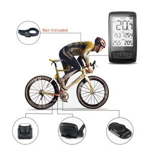Image 5 - Meilan بلوتوث ANT + دراجة الكمبيوتر دراجة عداد السرعة مقياس سرعة الدوران للإيقاع + سرعة الاستشعار الطقس يمكن تلقي معدل ضربات القلب