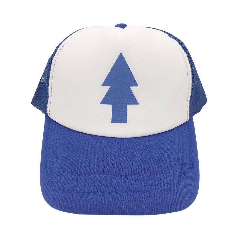 ef7f6b97529cf Unisex Trucker Baseball hat Women Men Curved Bill BLUE PINE TREE Dipper  Gravity Falls Cartoon Mesh Hat Cap S4-in Baseball Caps from Apparel  Accessories on ...