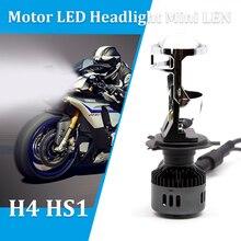 1 pz 35 w 3800LM H4 HS1 Motociclo HA CONDOTTO il Faro Con Mini Proiettore Len P43T Moto Testa Della Lampada Bianca 6000 k