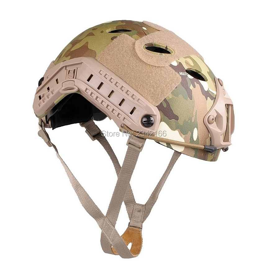 Airsoft FAST Carbon Style Helmet Multi Camo fast od pj carbon style vented airsoft tactical helmet ops core style high cut training helmet fast ballistic style helmet