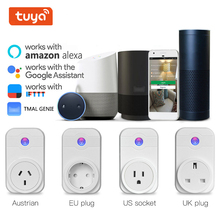WiFi Smart Power Socket Plug With Remote Control Compatible With Amazon Alexa Google Home Mini Smart Home Automation AU/EU/US/UK wall socket home security alexa compatible surge protection zigbee home automation solution smart metering plug