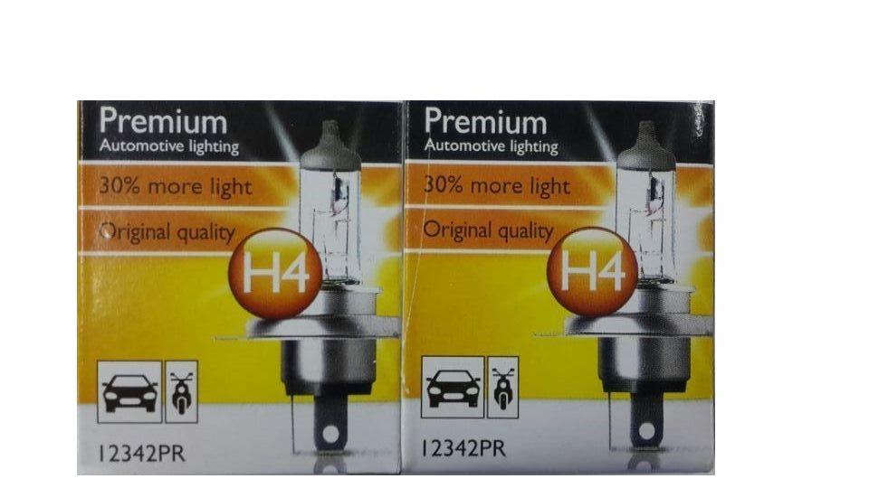2Pcs H4 12V 60/55W P43t-38 12342PR CI 5000-6000K white Light Car Halogen Lamp (DC/12V)