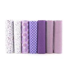 Hot Purple Floral Patchwork Cotton Fabric Fat Quarter Bundles Textile Sewing Patchwork Fab