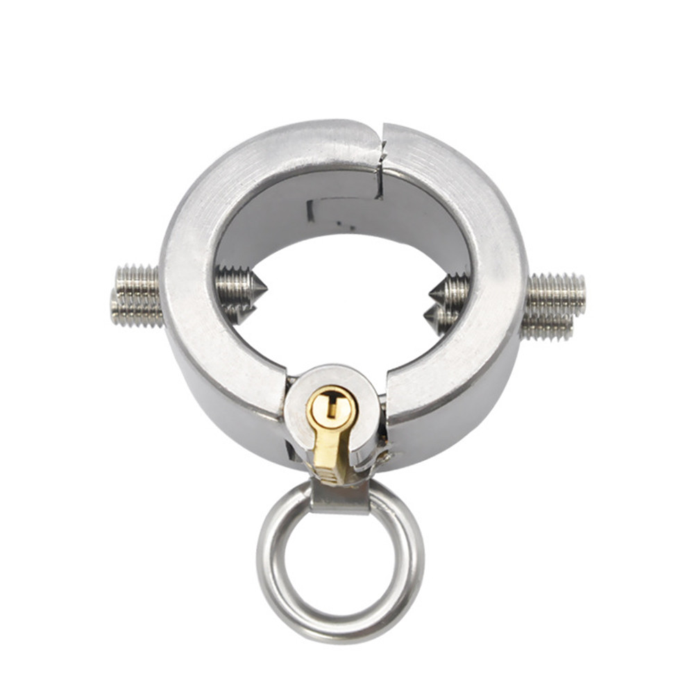 Metal Penis Rings Stainless Steel Cock Cage Male Scrotum Bondage Chastity Slave In Adult Games , Fetish Sex Toys For Men