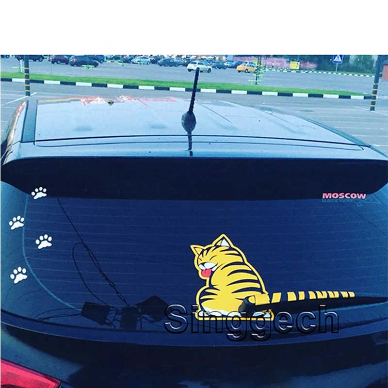 ZD نافذة السيارة الخلفية ممسحة ملصقات ل سكودا السريع فابيا Volkswagen بولو VW GOLF 4 5 6 7 Mk4 Mk6 Mk7 T5 توران تيجوان اكسسوارات