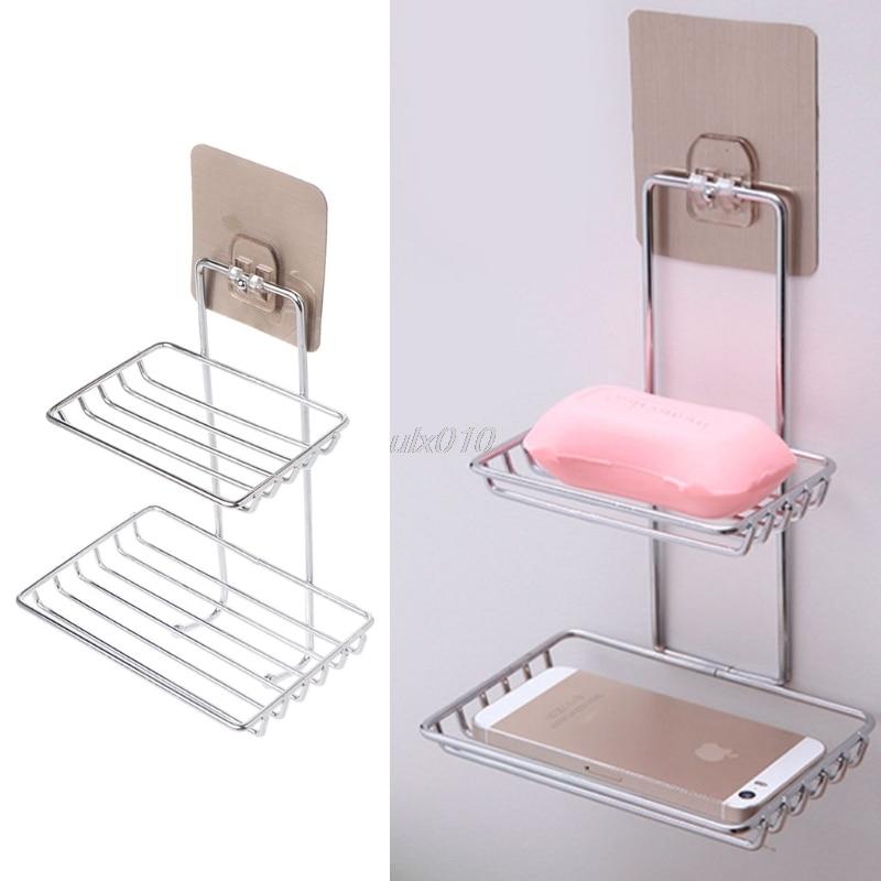 Держатель для мыла из нержавеющей стали для ванной и кухни клейкая вешалка для полотенец Новый 2 размера July Оптовая и Прямая поставка|Мыльницы|   | АлиЭкспресс