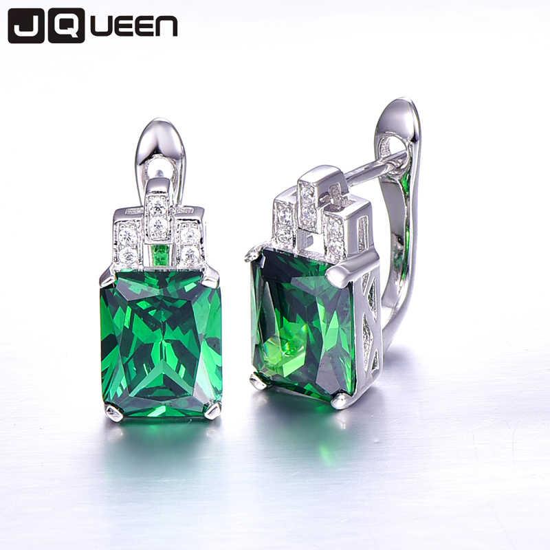 ความหวังของสีเขียวชุดเครื่องประดับที่ดีมรกตเงิน925จี้สร้อยคอต่างหูสตั๊ดชุดสีเขียวแหวนSz 6-9สำหรับผู้หญิง