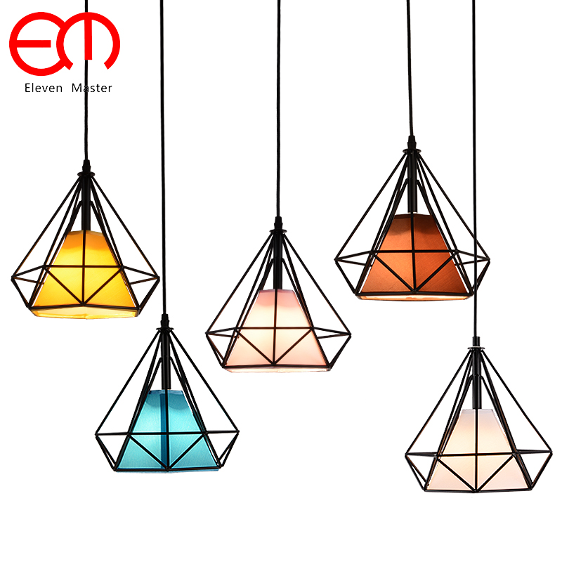 modern black birdcage pendant lights iron hanglamp metal Led pendant lamp loft decor vintage light for dining room ZDD0001 dx vintage lights pendant antler metal pendant lights verlichting hanglamp bar pendant light dinning room