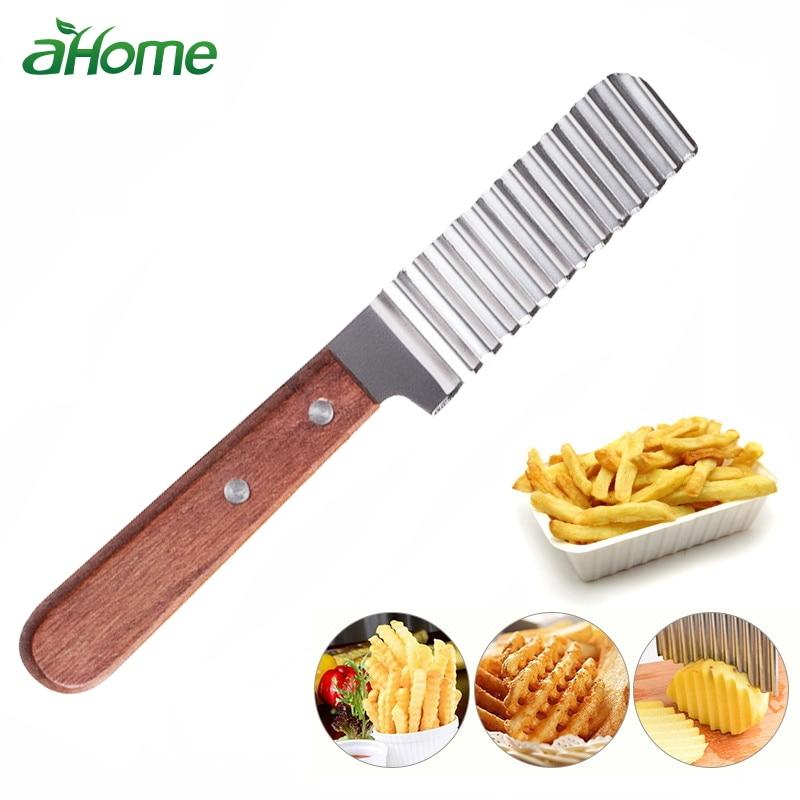 Wave Aardappelsnijder Slicer Fruit Groentemes RVS Wortelmes Keuken Gadget Kookgerei Accessoires