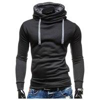 2017 Hoodies Men Sudaderas Hombre Hip Hop Mens Brand Leisure Hoodie Sweatshirt Slim Solid Color Fit
