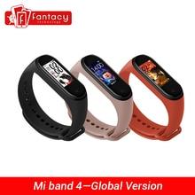 "In Lager Globale Version Xiao mi mi Band 4 Smart mi band 4 Wasserdicht Herz Rate Fitness 135mAh Bluetooth 5,0 0.95 ""AMOLED Bildschirm"