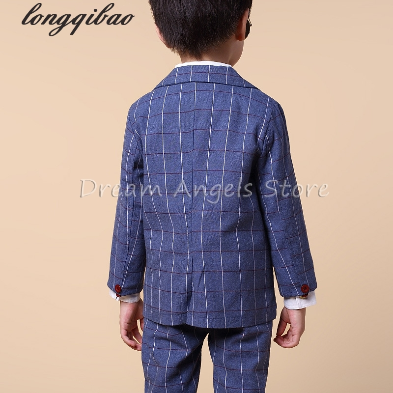 Blazers para Niños primavera niños ropa formal Traje a cuadros capa ...