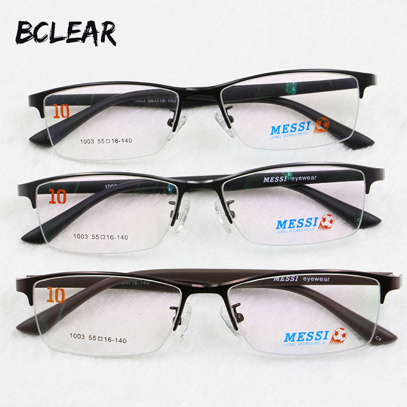 BCLEAR popular half rim brand optical frame metal alloy eyeglasses with TR temple comfortable wearing hot style good quality1003