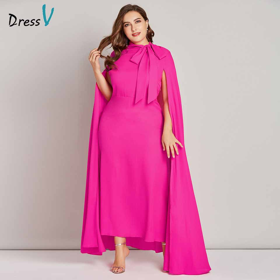 Dressv rose plus size evening dress elegant a line sleeveless zipper up wedding party formal dress evening dress-624065