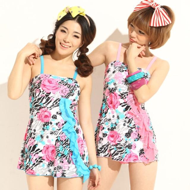 Female sexy bikini hot spring bikini swimwear one-piece dress size push up swimwear