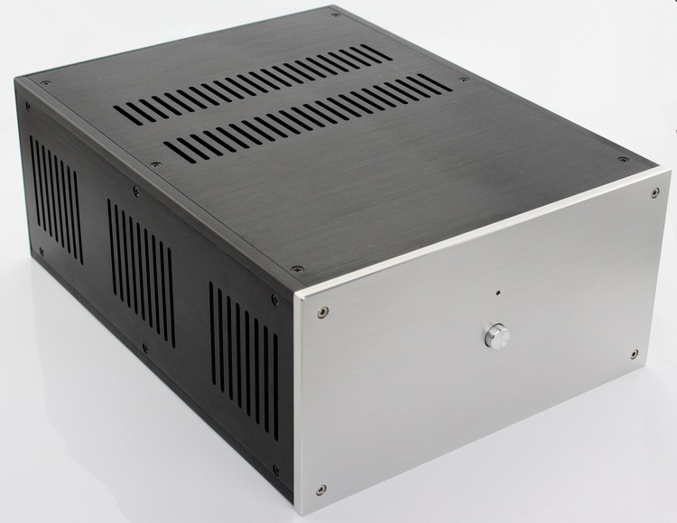 WF1109 Aluminum Chassis Power Amplifier Case PSU Enclosure DAC Box DIY NEW 4308 rounded chassis full aluminum enclosure power amplifier box preamplifier chassis