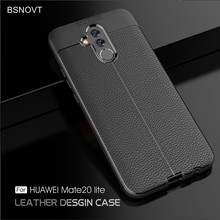 For Huawei Mate 20 Lite Case Soft Silicone Leather Anti-knock Cover SNE-LX1