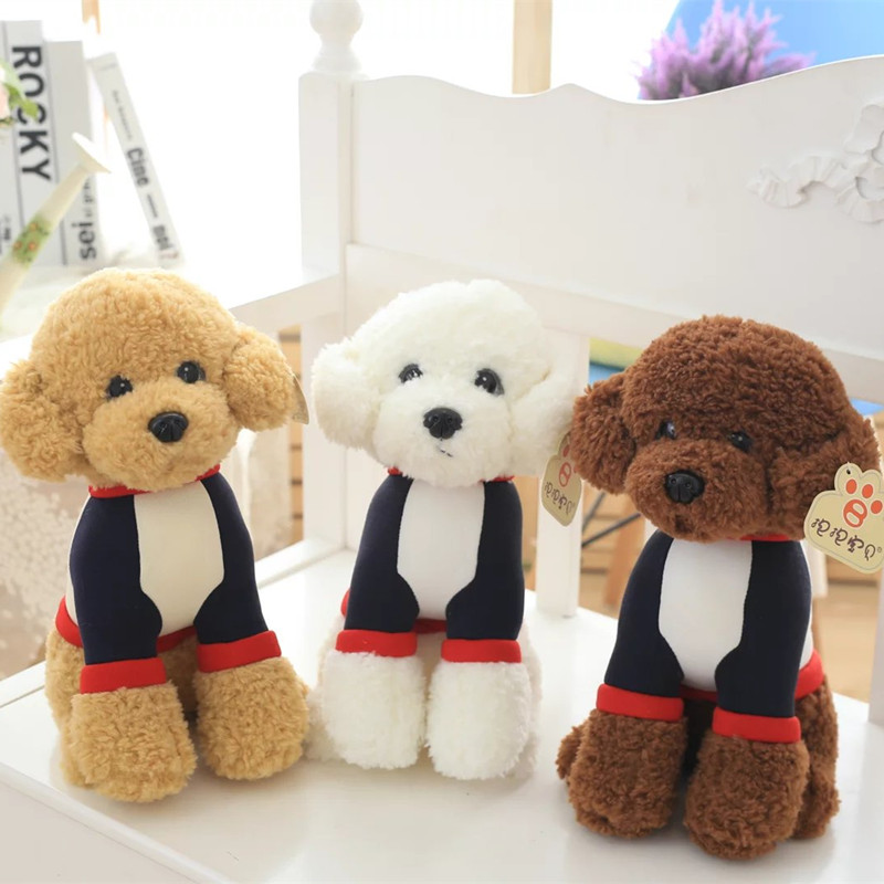 Cute Teddy Dog Plush Toy Poodle Puppy Stuffed Animal Soft Doll Kids Gift 33cm 40cm 50cm cute panda plush toy simulation panda stuffed soft doll animal plush kids toys high quality children plush gift d72z