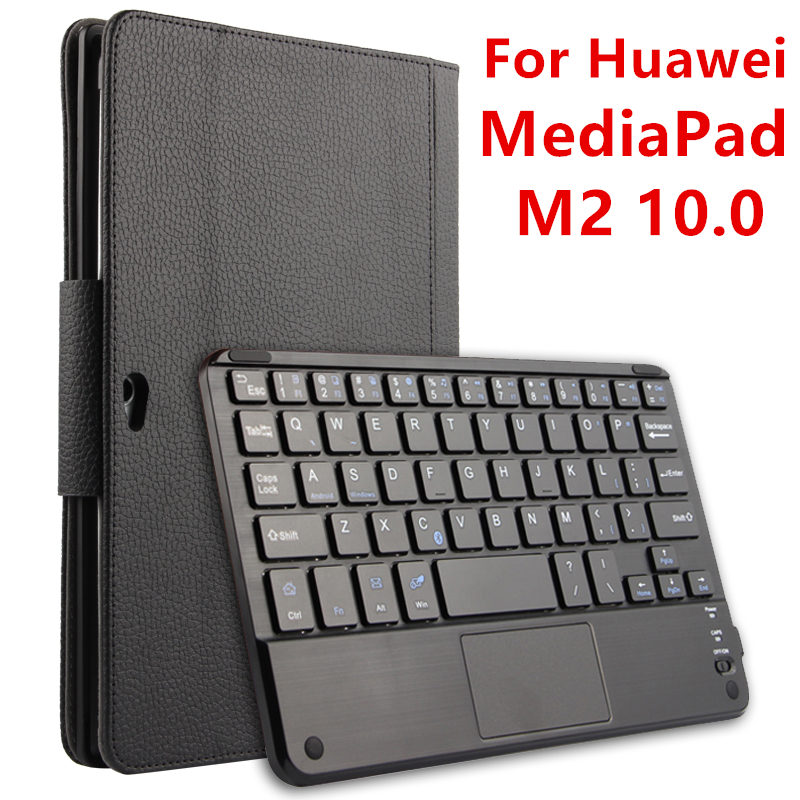 Case For Huawei MediaPad M2 10.0 Protective Wireless Bluetooth keyboard Cover Leather Tablet PC M2-A01L M2-A01W Protector PU 10 jivan touch panel keyboard case for huawei mediapad x2 tablet pc huawei mediapad x2 keyboard cover case