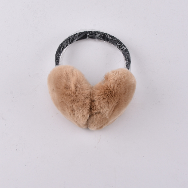 Real Rex Rabbit Fur Earmuff Natural Fur Earlaps Unisex Earmuffs Fashion Winter Warm Soft Earmuffs