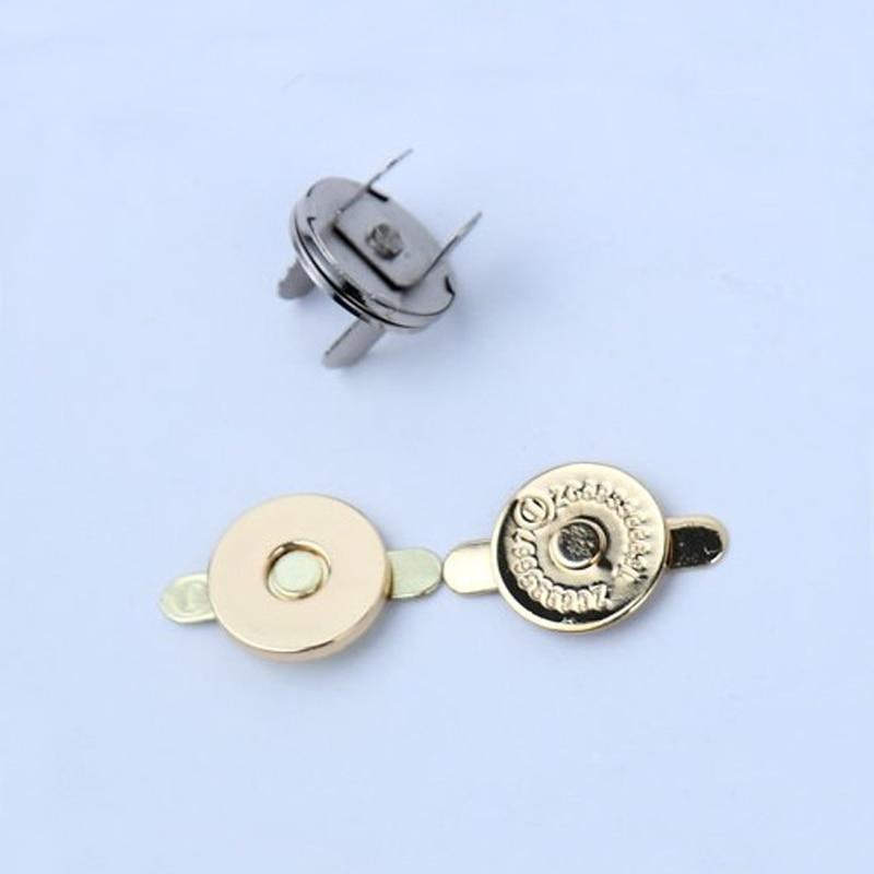 Magnétique Couleurs 5 Fixation Fermoir Portefeuille Ensembles Pour 100 Plat 2mm 18 Placage Main Sac Suspendu Pression Forme Bouton De À x4wRPq