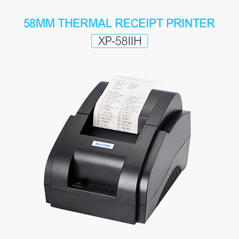 58mm Thermal Receipt Printers POS Printer With Automatic Cutter USB Or Bluetooth Port For Store Shop