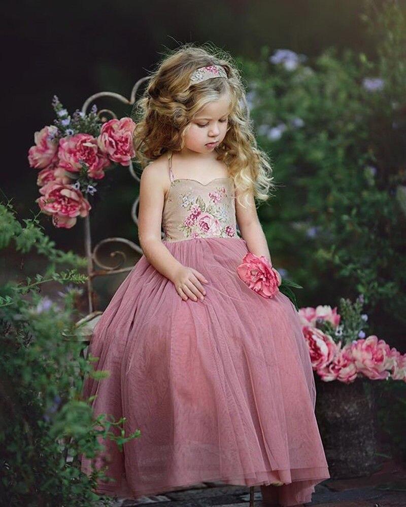 Pudcoco Kinder Baby Mädchen Prinzessin Kleid Spitze Floral Party hochzeit  Blume Tüll Kleid für mädchen Sommer Sommerkleid Kleider 12- 12T Farbe