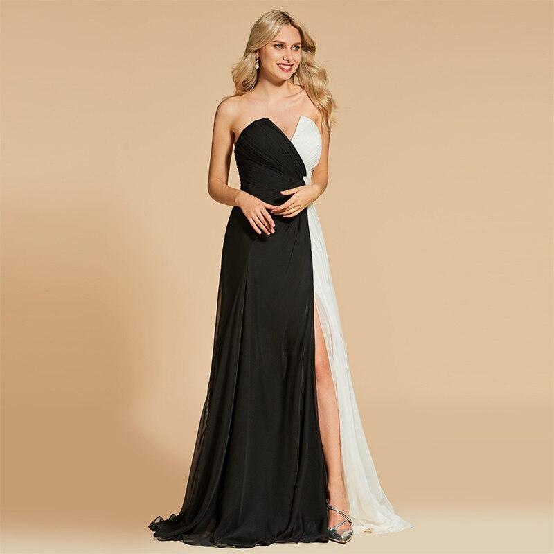 97881dab8e3b4cd Tanpell шифоновое вечернее платье без бретелек без рукавов длиной до пола  ТРАПЕЦИЕВИДНОЕ ПЛАТЬЕ женские Вечерние Выпускные