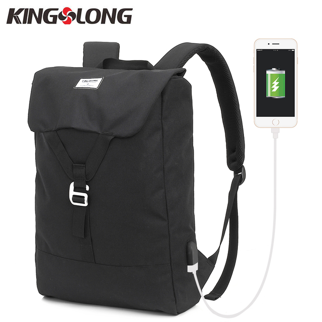 a98e5324f96 KINGSLONG Men s Backpack Ultra Lightweight Water-resistant Nylon Backpack  Travel Bag USB Charge Daypacks 3 Colors KLB1344-7