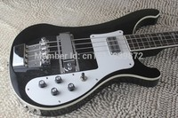 Hardcase 2015 New Arrival Chinese Guitar Factory RICK 4003 Classic Electric Bass Jetglo Top Quality Cheap