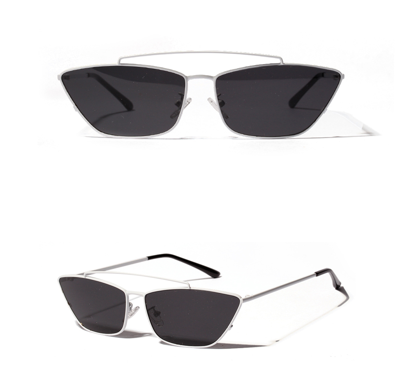 ladies cats eye sunglasses green lens detail (10)