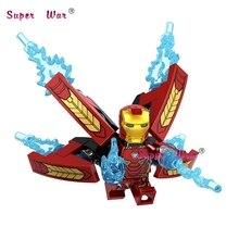 20 pcs Infinito Guerra Homem De Ferro Avengers Black Widow Doutor Estranho Pantera Negra Star-Lord Hulk blocos de construção tijolos brinquedos clássicos