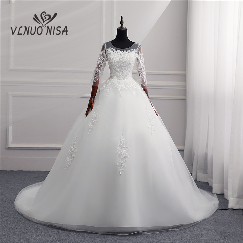 Sweet Wedding Dress 2018 New Fashion Gowns Bride Married Plus Size Was Thin Korean 10long Train Luxury Vestido Noiva White Tulle