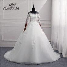 Słodka suknia ślubna 2020 nowa moda suknie panna młoda żonaty plus rozmiar był cienki koreański 10 długi pociąg luksusowy Vestido Noiva biały tiul