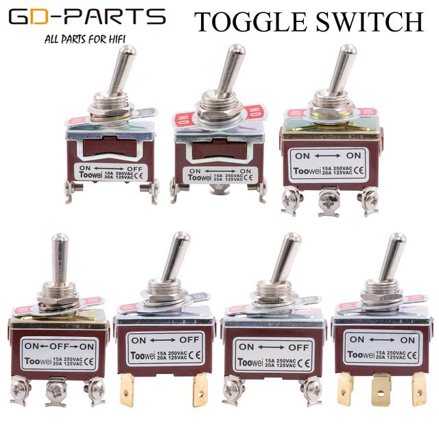 TOOWEI SPST DPDT DPST SPDT Toggle Switch ON ON ON OFF ON ON OFF AC Power Rocker Switch AC 250V 15A 125V 20A