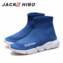 JACKSHIBO Summer Kid Flat Sneakers Sock Shoes Casual Lazy For Girls Boys Slip-on Kids Childrens Sports Knitted