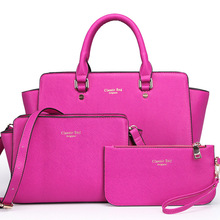 2017 New brand solid leather bag Korea handbag women medium big tote bags female crossbody bags