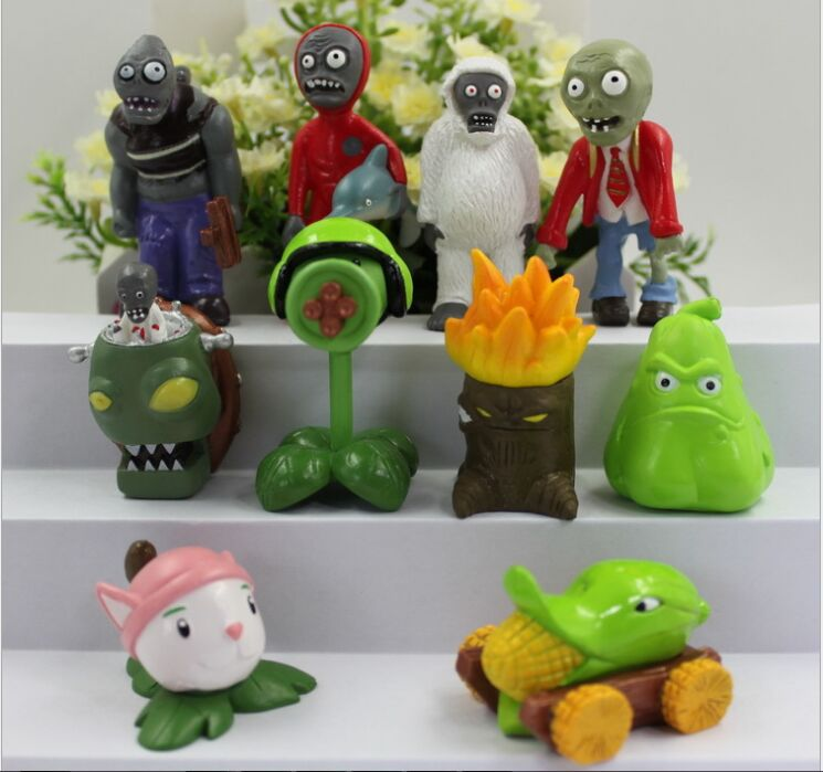 Free shipping! 10pcs/set PVZ Plants vs Zombies Game 2 Toys for boys PVC Action Figures Toy plants vs zombies toy childs play