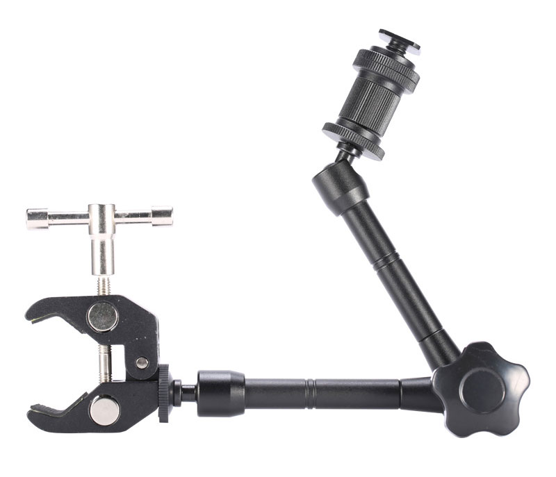 11 Inch Adjustable Friction Articulating Magic Arm + Super Clamp for DSLR LCD Monitor LED Flash Light Camera Accessories (1)