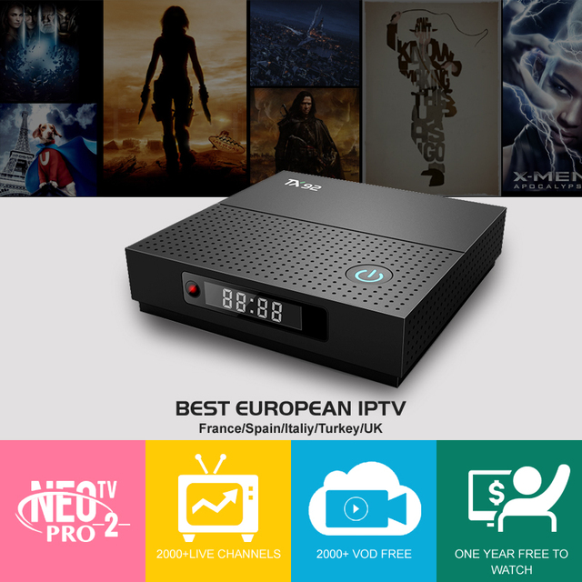 Italy iptv French iptv Box New TX 92 3GB/32GB S912 Android 7 1 TV BOX HD 1  Year europe server 1600 Channels include smart tv box
